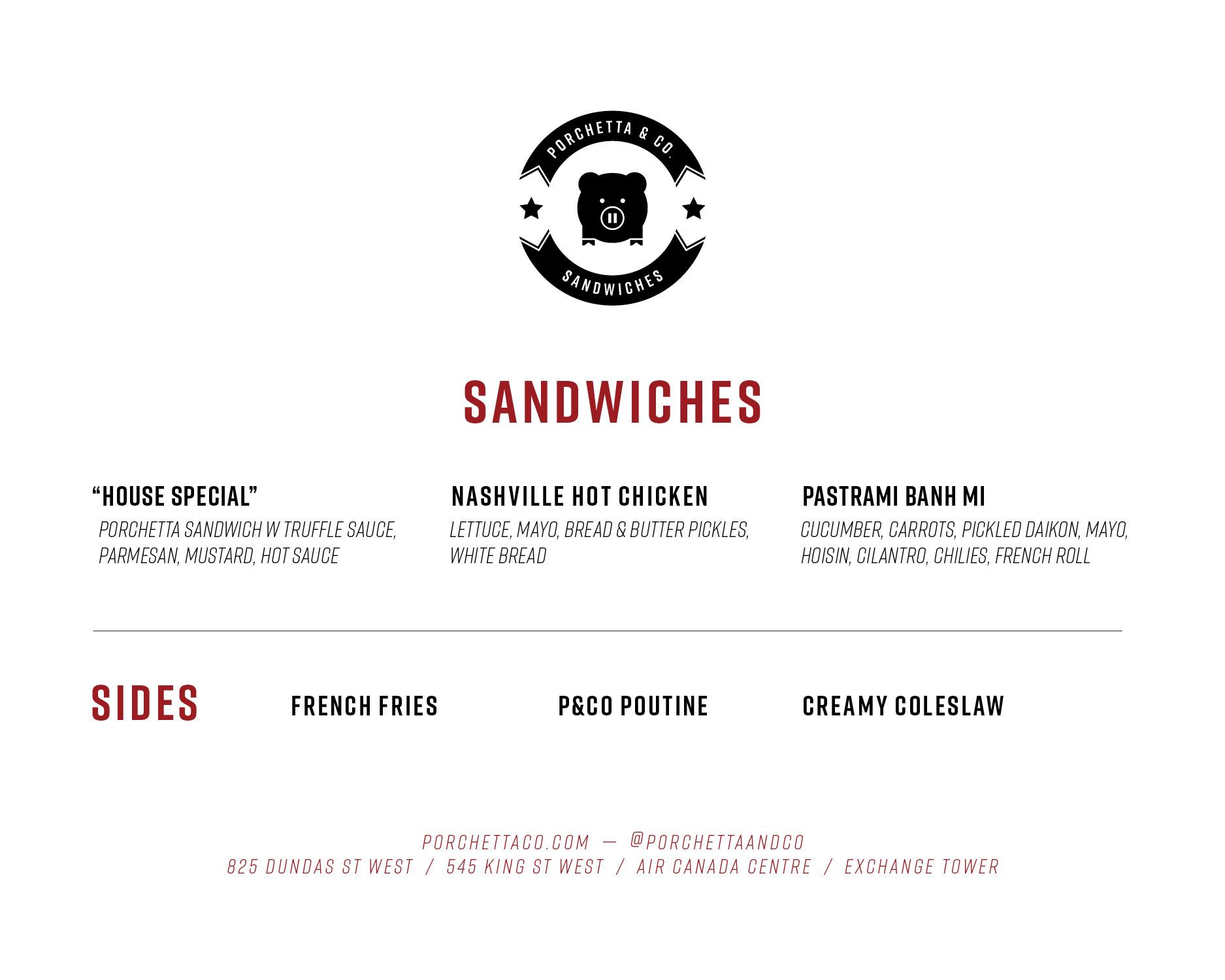 ACC Sandwich/Sides Menu