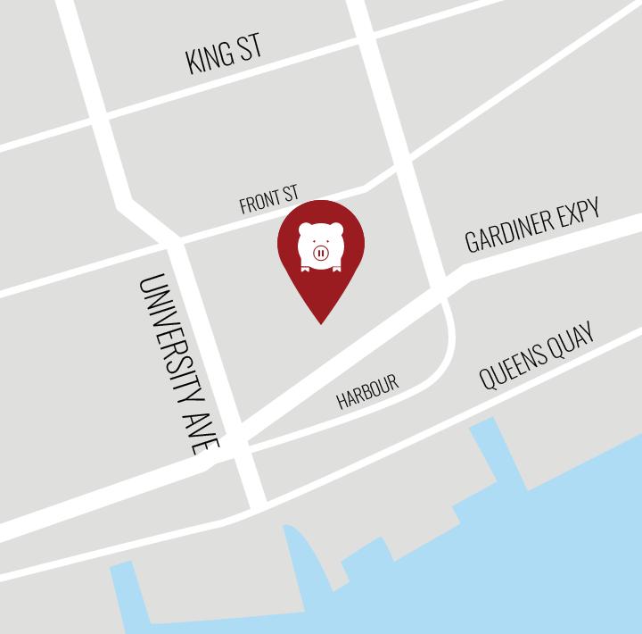Map of Porchetta & Co. (Scotiabank Arena location)